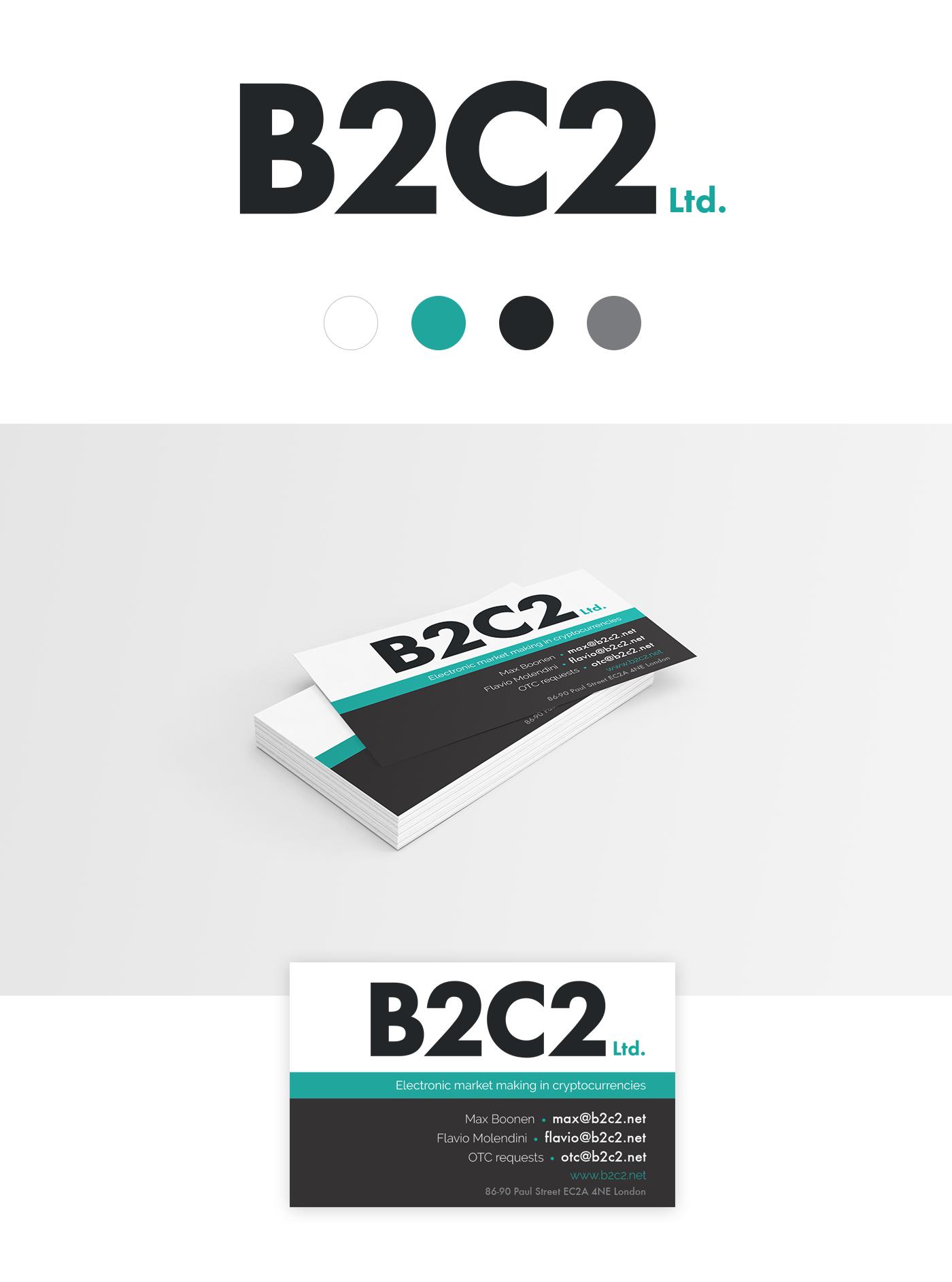 b2c2 logo businesscard project
