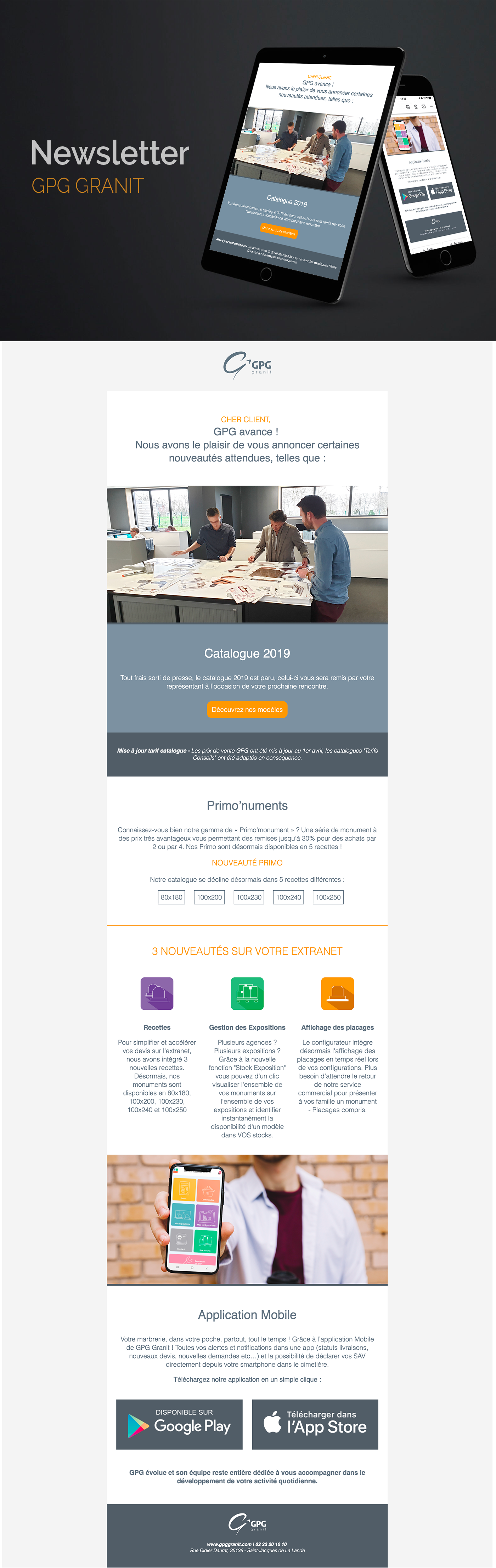Newsletter GPG Granit project