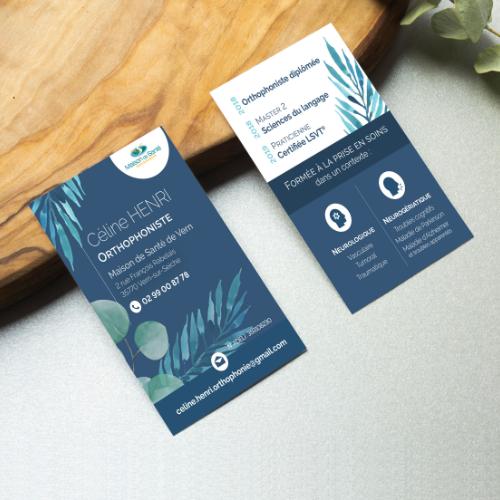 Business card Orthophoniste Manon Desprez